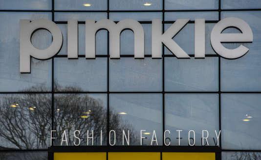 L'enseigne Pimkie au siège de la marque, à Villeneuve-d'Ascq, en janvier 2018.