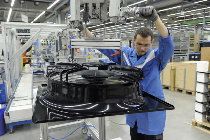 Dans l'usine du groupe Ebm-Papst, à Mulfingen, en Allemagne.
