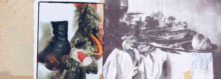 «En Ukraine, une fois le service militaire accompli, la tradition veut que les jeunes hommes réalisent un album de photos souvenirs. Sergey Kamennoy se prête au jeu et imagine celui de son fils, Taras. Il le met en scène, en costume militaire, dans une imagerie érotico-kitsch, inspirée autant de la pop culture que de la peinture classique.»