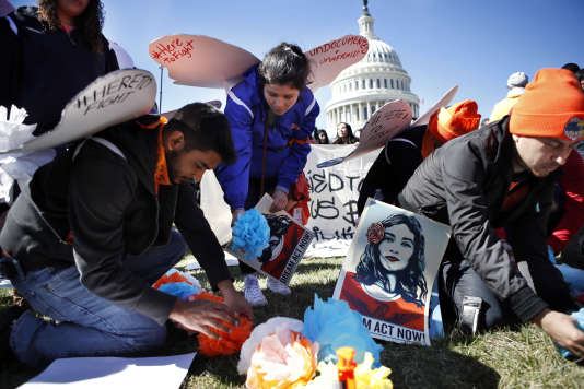 Manifestation en faveur du programme Deferred Action for Childhood Arrivals (Daca), à Washington, le 5 mars.