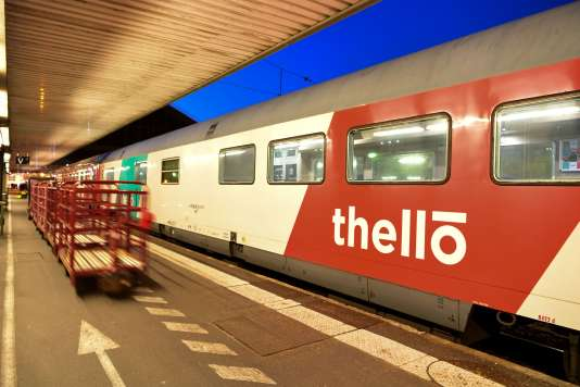Un train Thello en partance pour Venise-Santa Lucia, à la gare de Lyon, à Paris, le 24 février.