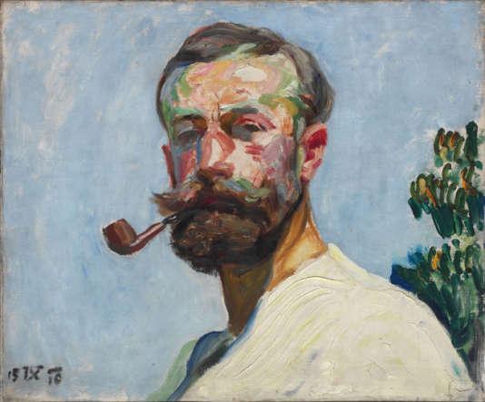 « Autoportrait » (1910), de Frantisek Kupka, huile sur toile, 46 x 55 cm.