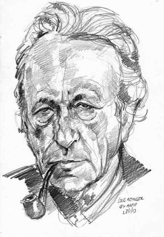 Portrait de Louis Althusser.