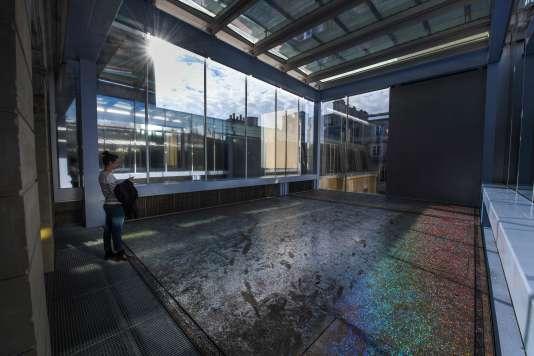 A l'intérieur de la fondation d'entreprise des Galeries Lafayette,Lafayette anticipations, à Paris, le 5 mars.