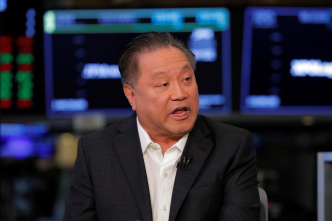 Hock Tan, PDG de Broadcom, dans les locaux du New York Stock Exchange, le 12 février.