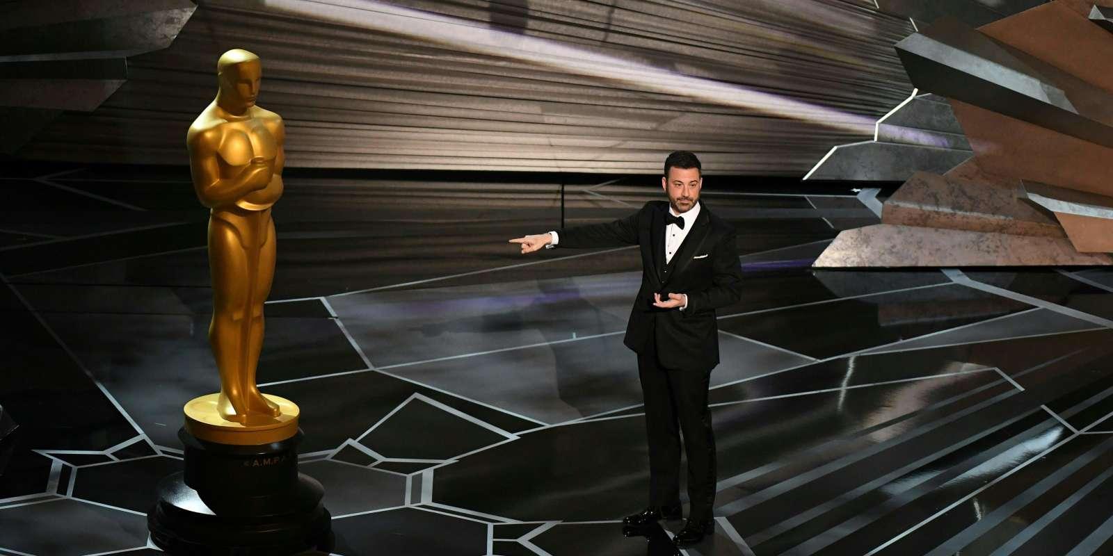 Jimmy Kimmel a inauguré la cérémonie des Oscars, avec un discours teinté d'humour, dimanche 4 mars.