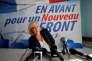 La présidente du Front national, Marine Le Pen, à Laon (Aisne), le 18 février.