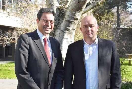 M'Hamed Drissi, directeur de l'INSA Rennes et Patrick Le Floch, directeur de Sciences Po Rennes.