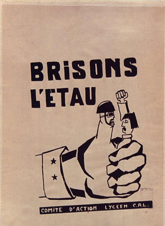 Une affiche issue de l'Atelier populaire de Marseille, 1968.