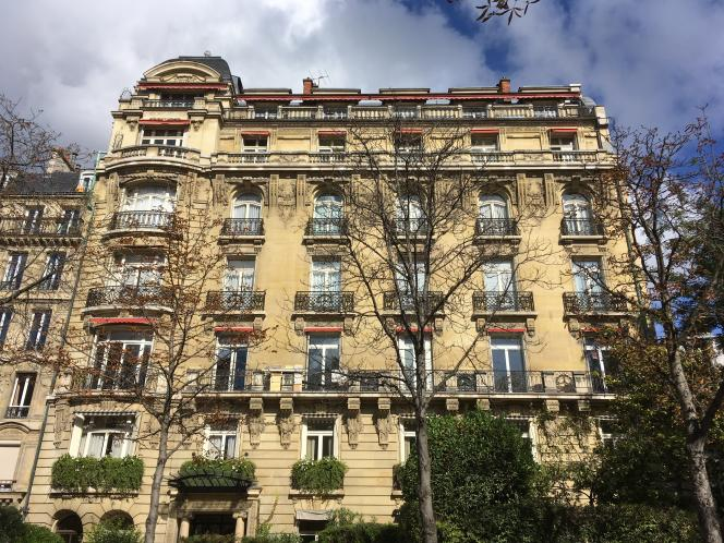 A Paris, les loyers ont progressé de 1,9 % à la relocation en 2017. Un immeuble dans le 16ème arrondissement de la capitale.