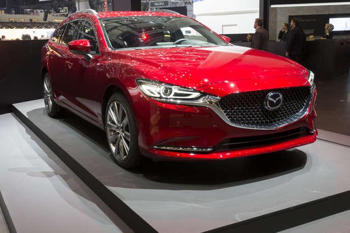 La Mazda 6 Sport Wagon, présentée au Salon de Genève, le 6 mars 2018.