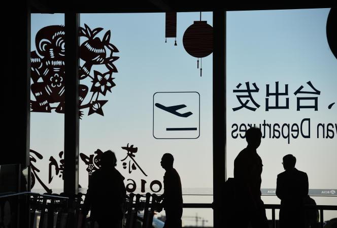 Le terminal des départs internationaux de l'aéroport de Pékin, en 2016.