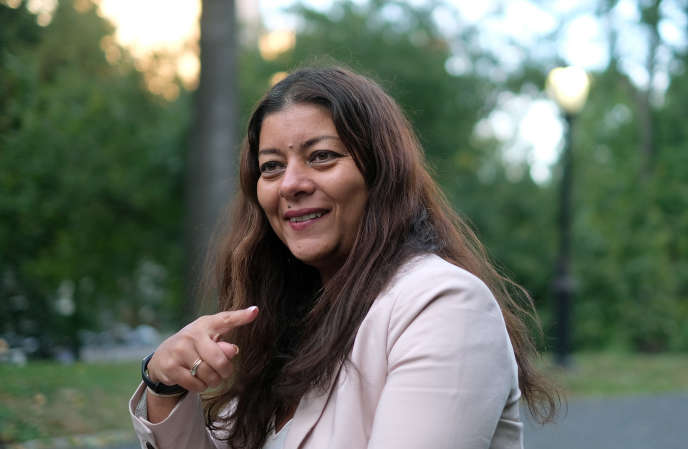 La journaliste Sandra Muller, le 16 octobre à New York.