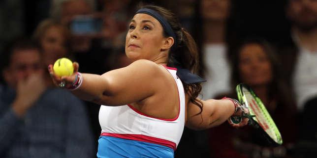 Marion Bartoli, le 5 mars, au Madison Square Garden de New York, lors d'un match-exhibition contre Serena Williams.