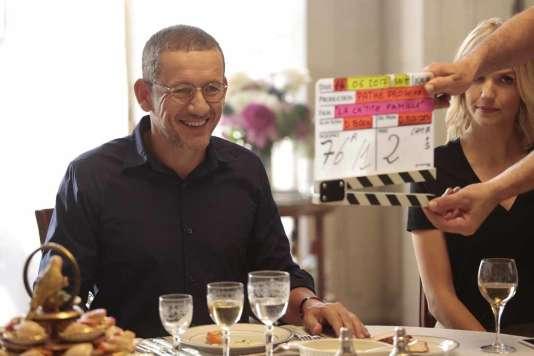 L'acteur et réalisateur Dany Boon sur le tournage de son film«La Ch'tite Famille».