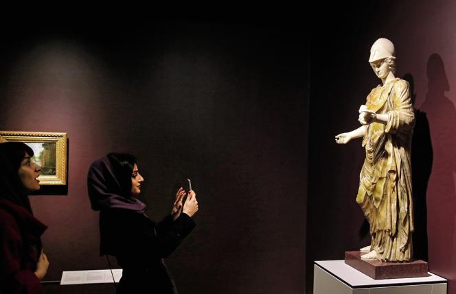 Inauguration de l'exposition« Le Louvre à Téhéran,le 5 mars 2018.