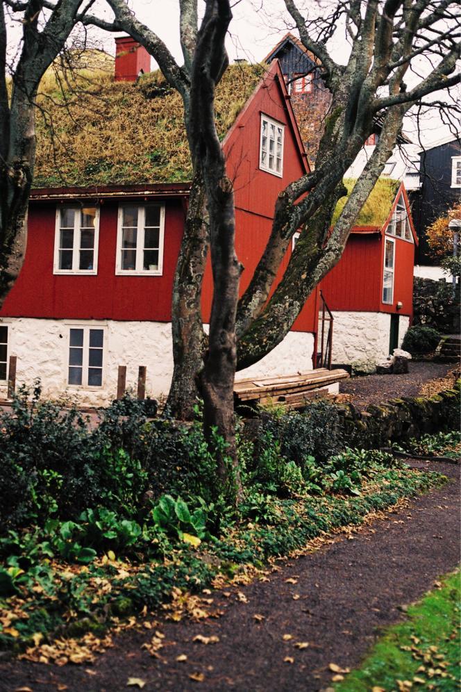 Maisons typiques à Tórshavn, la capitale des îles Féroé.