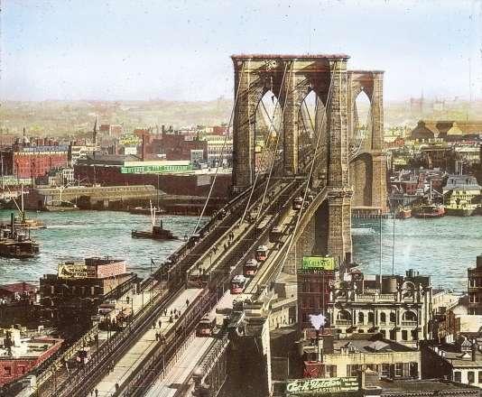 Le pont de Brooklyn vers 1890.