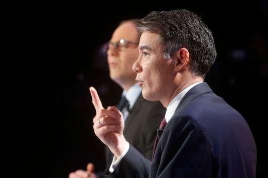 Olivier Faure, lors du débat le 7 mars.