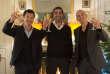 Les trois beaux-frères (incarnés par Frédéric Chau, Ary Abittan et Medi Sadoun) de « Qu'est-ce qu'on a fait au Bon Dieu? » (Philippe de Chauveron, 2014), alliés dans l'adversité.