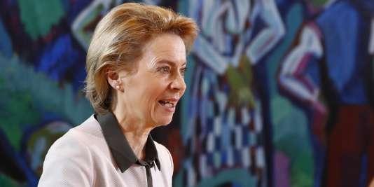 Ursula von der Leyen, ministre de la défense, le 7 mars, à Berlin.