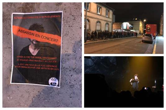 Malgré la polémique et les affichettes placardées dans la ville, les fans étaient nombreux, mercredi 7 mars, pour applaudir Bertrand Cantat à La Laiterie, à Strasbourg.