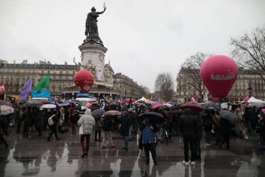 Sur la place de la République, le 8 mars.