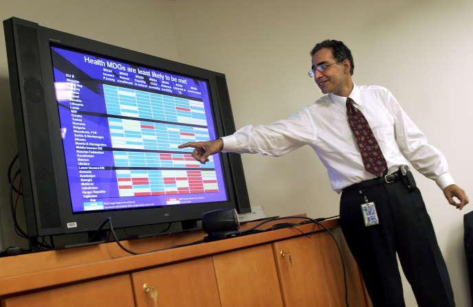 Arup Banerji, directeur régional pour les pays de l'Union européenne à la Banque mondiale, à Washington, en 2005.