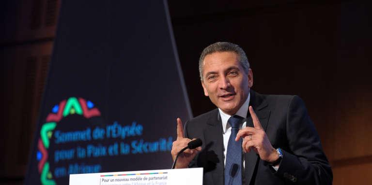 Le ministre marocain de l'industrie et patron du groupe Saham,Moulay Hafid Elalamy, à Paris, en décembre 2013.