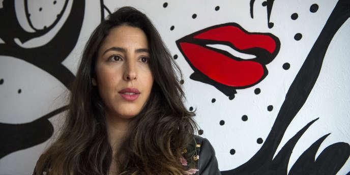 Fatim Ben Cherki, directrice de l'incubateur Jawjab qui produit le projet «Marokkiat», à Casablanca, le 5mars 2018.