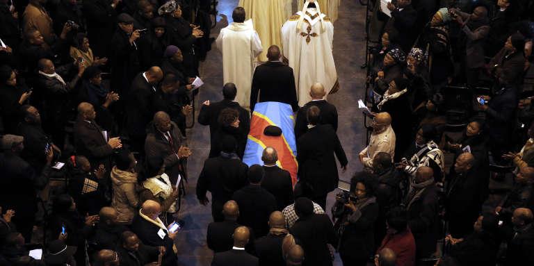 Les funérailles de l'opposant congolaisEtienne Tshisekedi à la basilique Koekelberg, à Bruxelles, le 9février 2017.
