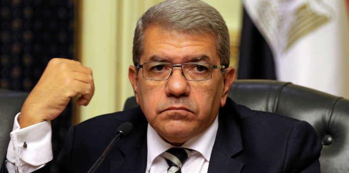 Le ministre égyptien des finances, Amr Al-Garhy, lors d'une conférence de presse au Caire, en août 2016.