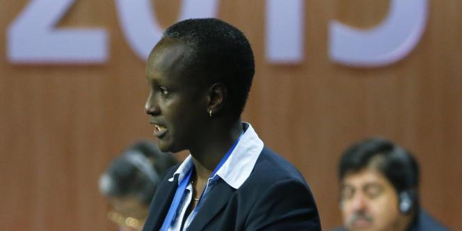 Lydia Nsekera à Zurich (Suisse), en mai 2015.