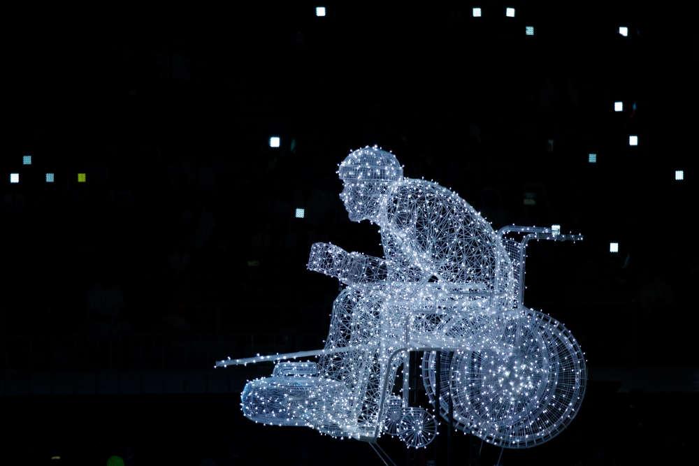 La 12e édition des Jeux paralympiques s'est ouverte, vendredi 9 mars à Pyeongchang, avec une cérémonie et le défilé des 46 délégations.