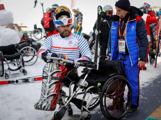 Le skieur France Yohann Taberlet, vendredi 9 mars 2018.
