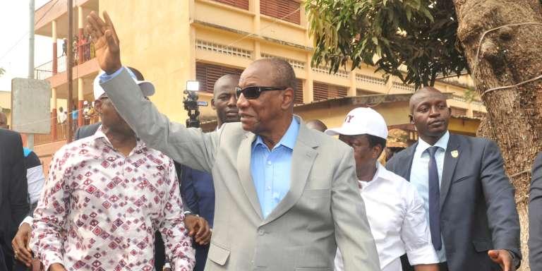 Le président guinéen Alpha Condé, à Conakry, le 4 février 2018.