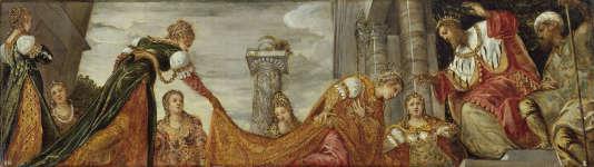 «Esther devant Assuérus» par le Tintoret,vers 1554-1555 .