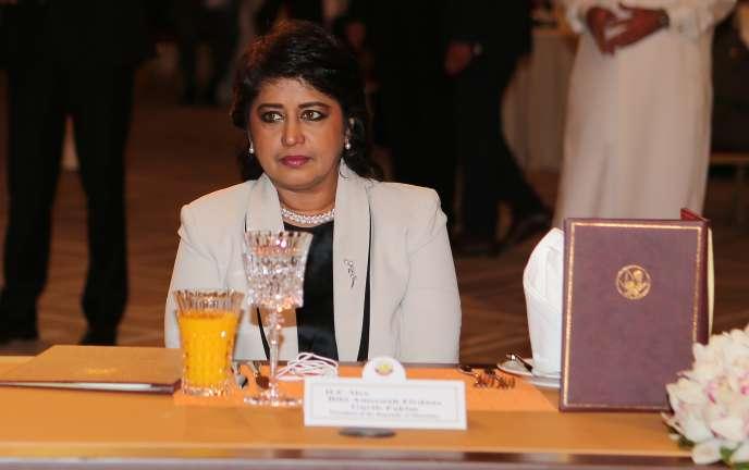 La présidente mauricienne, Ameenah Gurib-Fakim, au forum de Doha le 21 mai 2016.