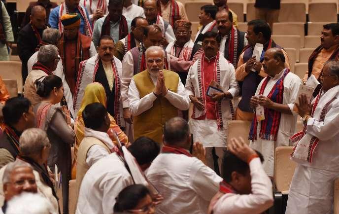 Le premier ministre indien, Narendra Modi, à New Delhi, le 6 mars.