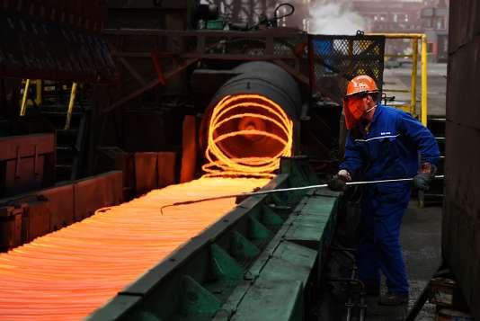 Production d'acier àZouping (Chine), le 5 mars.