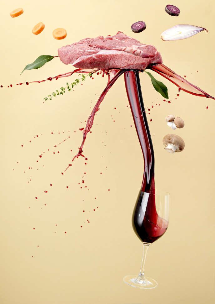 Pour cuisiner au vin, il suffit de respecter une règle : à poisson et viande blanche, vin blanc; à viande rouge et gibier, vin rouge.