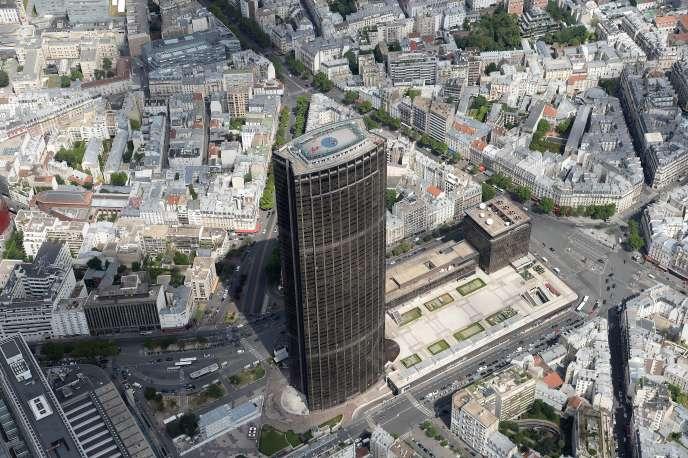 Vue aérienne du quartier Montparnasse, à Paris, en juillet 2017.