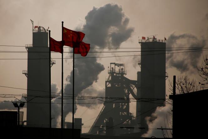 Une aciérie à Wu'an (province de Hebei), en chine, en février 2017.