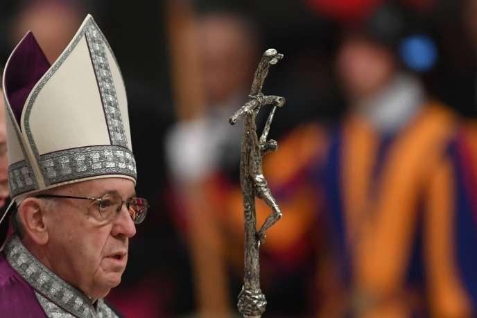 Le pape François, au Vatican, le 9 mars 2018.