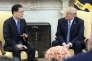 Le conseiller national sud-coréen à la sécurité, Chung Eui-yong lors de sa rencontre avec le président Donald Trump, à la Maison Blanche, le 8 mars.