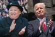 Kim Jong-un, à Pyongyang, et Donald Trump, à Varsovie, le 6 juillet 2017.