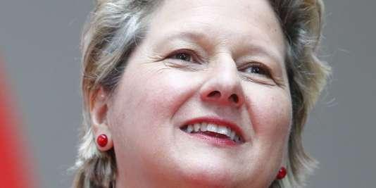 Svenja Schulze, nouvelle ministre de l'environnement, à Berlin, le 9 mars.