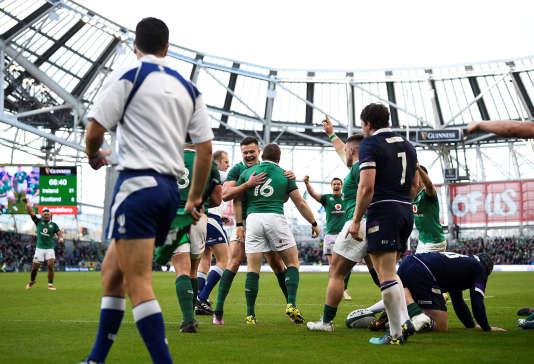 L'Irlande fête sa victoire dans l'édition 2018 dans l'Aviva Stadium, construit en lieu et place du vétuste Lansdowne Road.