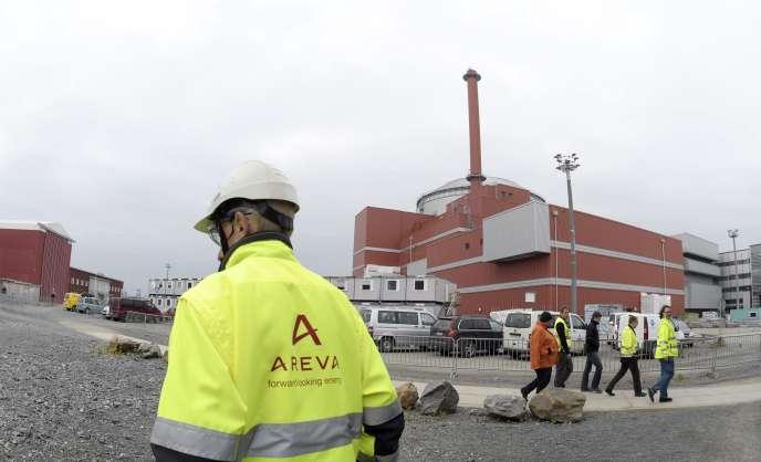 Le chantier du réacteur d'Olkiluoto, à Eurajoki (sud-ouest de la Finlande), en octobre 2016.