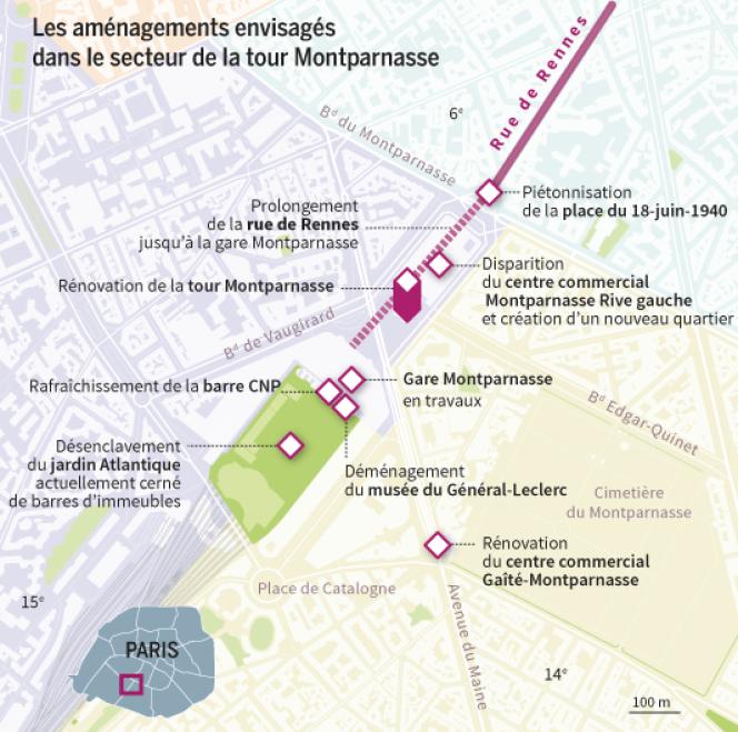 Rénovation du quartier de Montparnasse, Paris